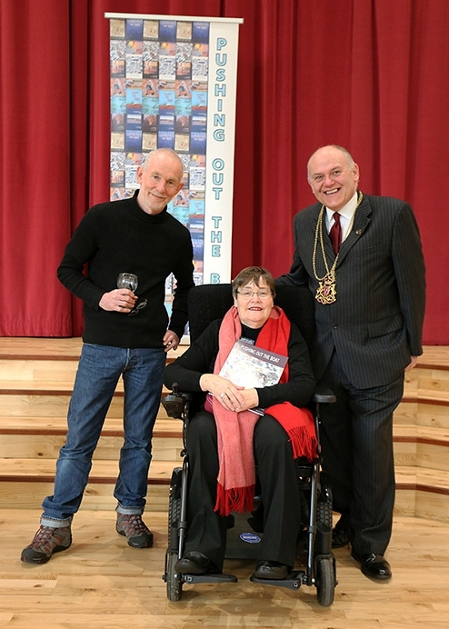 Ian Stephen (Issue 15 Foreword writer, Anne Begg and Aberdeen City Lord Provost, Barney Crockette