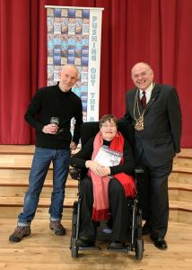 Ian Stephen (Issue 15 Foreword writer), Anne Begg (POTB Patron) and Barney Crockett, Lord Provost of Aberdeen City