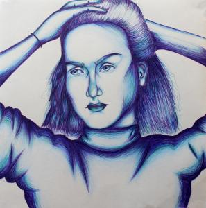 Self Portrait in Blue